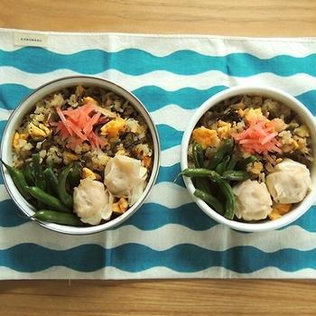 さば高菜チャーハン弁当と麻婆豆腐定食
