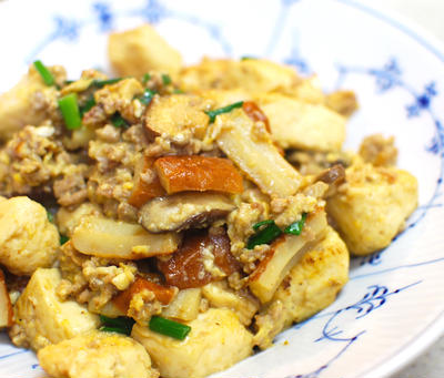 『しっかり味!豆腐とちくわのうま煮』