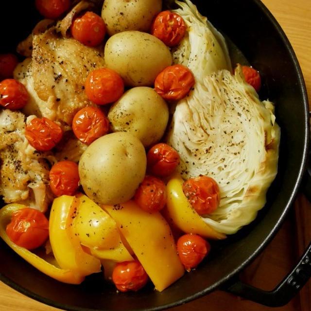 「福島県産チェリートマト」をソースに*ストウブで鶏肉と野菜のオーブン焼き