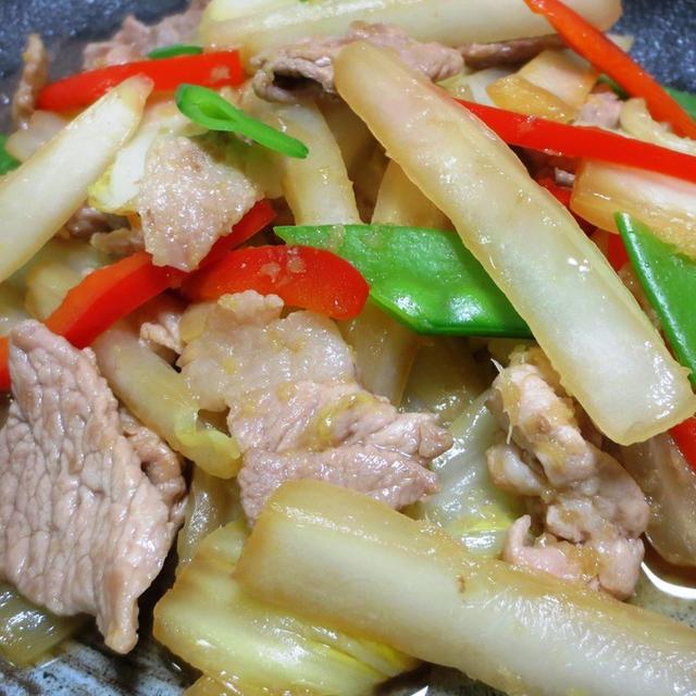 豚こまと白菜の生姜炒め<簡単、時短、節約>