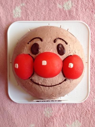 アンパンマンの立体ケーキ*
