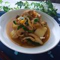 寒い日には♪体が温まる!豚肉と冬瓜のキムチ煮