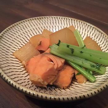 鮭と大根の味噌煮