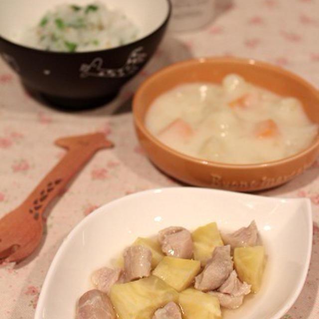 幼児食☆鶏肉とさつまいもの煮物