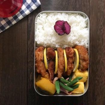 鯖の竜田揚げ 弁当︎☺︎
