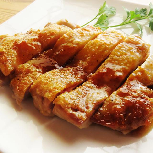 皮パリパリの美味しい鶏の照り焼き