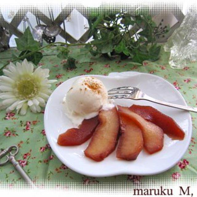 林檎のコンポートとお肉(3品レシピ)