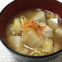 【ヤマキだし部】里芋と白菜の味噌汁