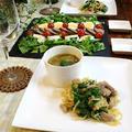 ◆粗切りわさびで青パパイヤと豚ロースのソテーと整列サラダ♪ by fellowさん