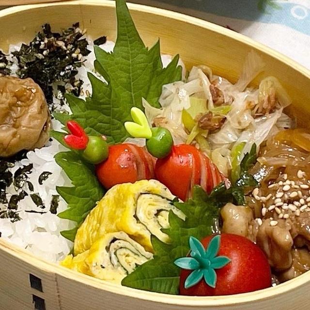【お弁当】お弁当作り/ワンパン弁当/豚肉と玉ねぎの照り炒め