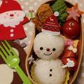 クリスマス★雪だるまおにぎり弁当 by とまとママさん