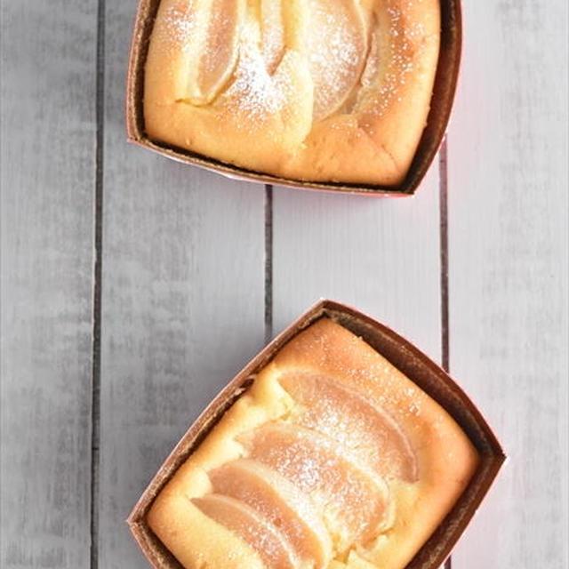 バター不要!ホットケーキミックスで ふわふわ桃缶ケーキ