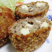 キャベツとチーズ入りミンチカツ<うまコク♪>