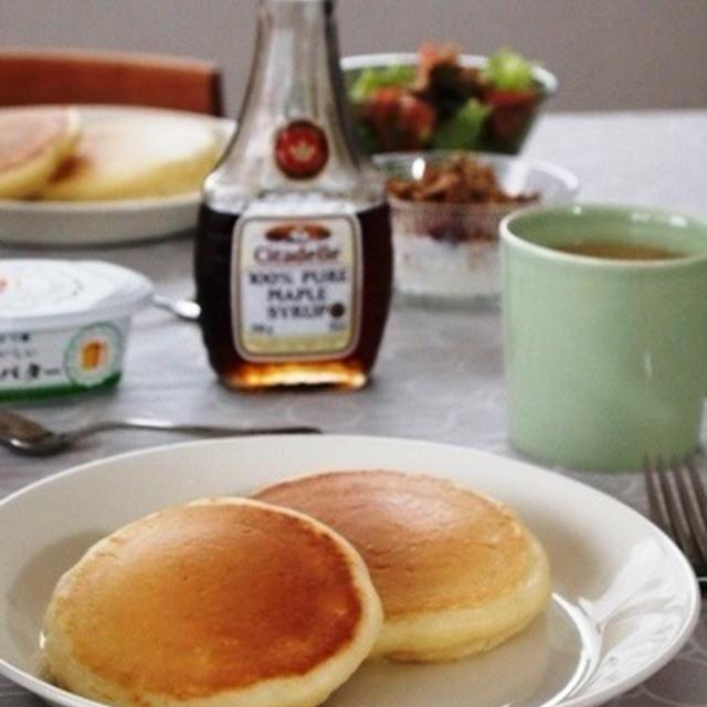 娘と作るホットケーキの朝