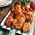 ♡フライパン1つdeテリッテリ♡鶏むね肉の甘辛ごまがらめ♡【#簡単#時短#節約#揚げない】