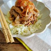 めちゃうまっ!豚しゃぶと塩揉みキャベツの焼き肉香味タレ by こはるさん