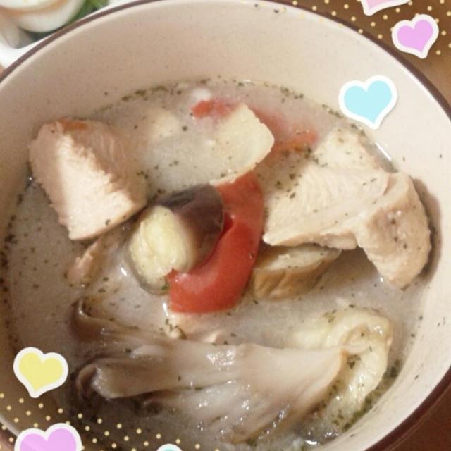 鶏肉のココナッツスープ ★トムカーガイのれしぴ