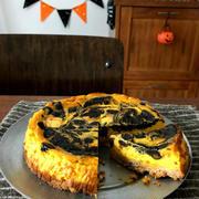 台風明けのみんなのLINEと【簡単!!】ハロウィンに*かぼちゃのマーブルチーズケーキ