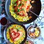オムライスレシピ コンテスト 上手に包めぬのなら魅せるオムライスに! 簡単フライパンオムライス