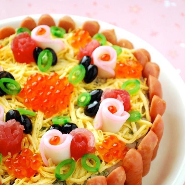 レシピあり!ひな祭り☆タルト風ケーキのちらし寿司