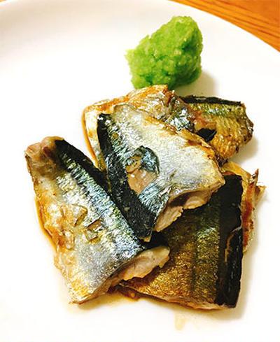 秋刀魚のわたじょうゆ焼