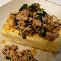 豆腐ステーキ・生姜たっぷりソース