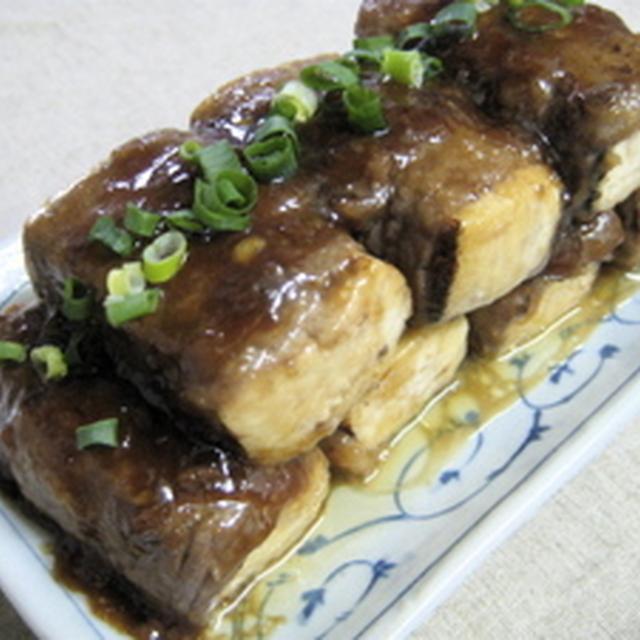 焼き豆腐の肉巻き