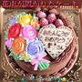 「ケーキの上に、花束をそっと置いた。」イメージのデコ♡