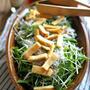 水菜と釜揚げしらすのサラダ。