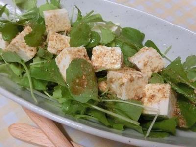 花椒塩を入れるだけでいきなりアジアン♪ 豆腐のサラダ