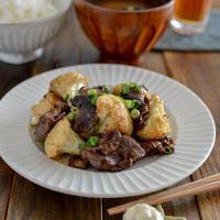 やみつき!カリフラワーと牛肉のオイマヨ炒め。簡単おかず♪【農家のレシピ帳】