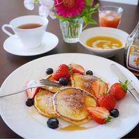 リコッタパンケーキで休日の朝の朝食