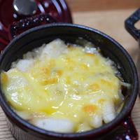 長芋と舞茸の和風グラタン