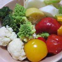 季節野菜の塩レモン蒸し