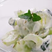 シャインマスカットと緑野菜のクミンヨーグルトサラダ