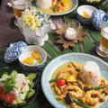 海老と夏野菜のココナッツカレー(レシピあり)♪
