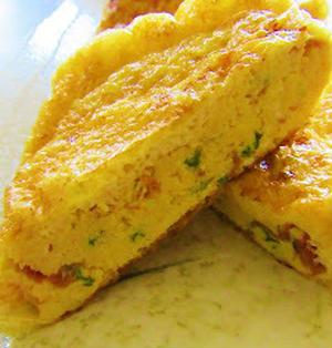 [味付け不要de簡単♪お弁当のおかずやおつまみにも]梅と大葉入り♡油揚げの卵焼き/嬉しいつくレポ♡/ 7/14「今日のイチオシ!ブログ&レシピ」掲載感謝です♡