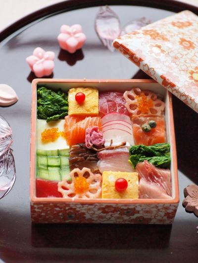 ひな祭りのモザイク寿司