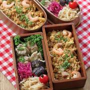 焼売とエビ炒飯 ✿ 野菜そば(๑¯﹃¯๑)♪