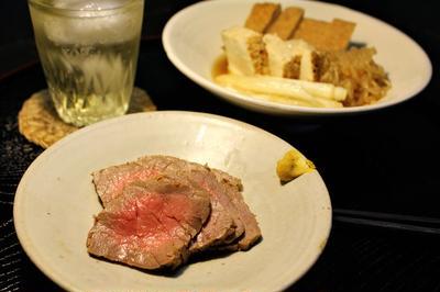 すき煮と牛肉めんつゆ漬け