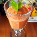 夏野菜の栄養ドリンク「トマトのガスパチョ」。