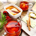 【ホットワイン風】 オレンジのスパイスシロップ煮 & オレンジティー