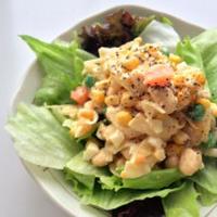 ガラムマサラで減塩*大豆と玉子のカラフルサラダ