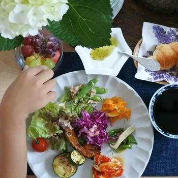 野菜たっぷりな朝ごはん 簡単レシピ