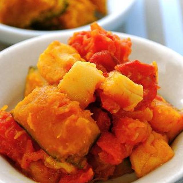 ふわふわお麩入り☆南瓜のトマト煮