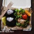 豚バラとしし唐の甘辛ソテー弁当~100均紙製ランチボックス