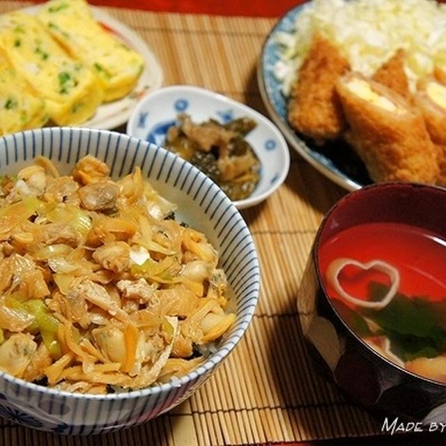 アサリのおいしい季節です♪ 江戸っ子飯深川丼