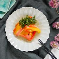 【夏野菜レシピ】フライパン1つ♡もう1品にも!カラフルで可愛い♪【パプリカの焼き煮浸し】