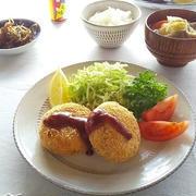ポテトコロッケ と 豚汁