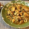 柔らかさA級。蕩けるキノコ鶏の濃厚カレーオイスター煮込み(糖質9.5g) by ねこやましゅんさん